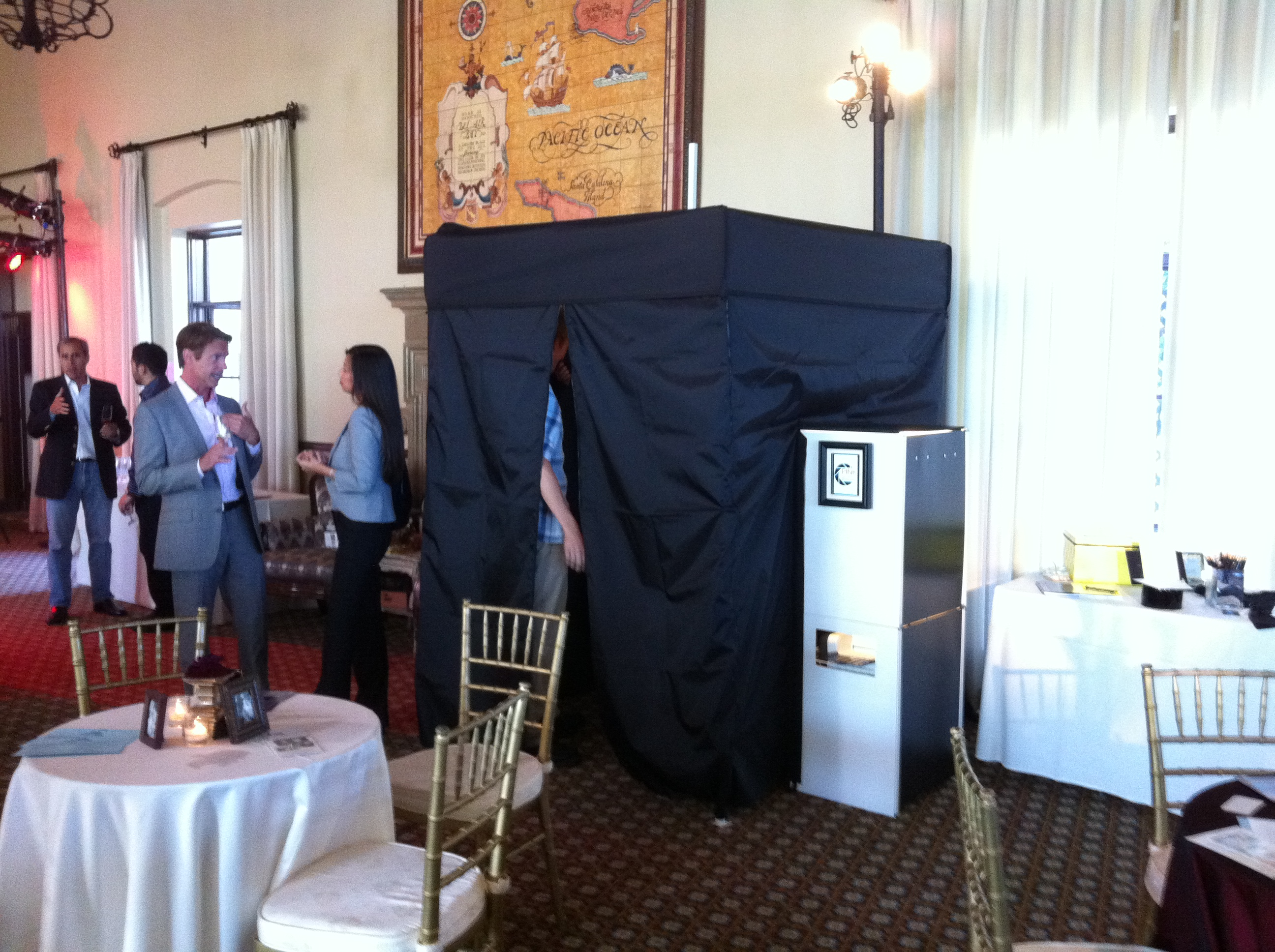 Guests Using Photo Booth at Bel Air Bay Club