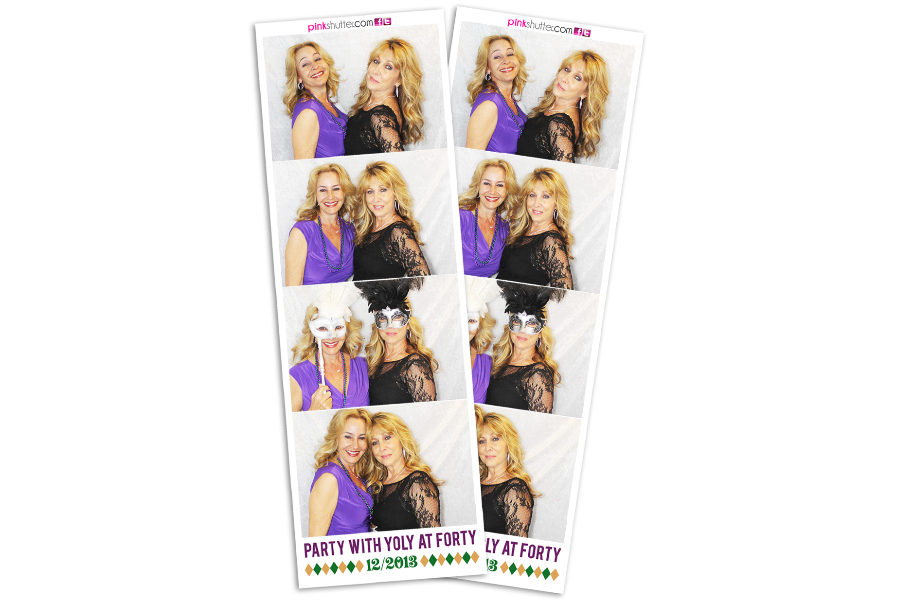 Mardi Gras Theme Birthday Photo Strips