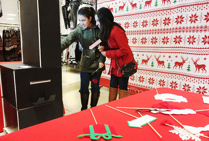 Guests Pose in Ugly Sweaters at Macy's