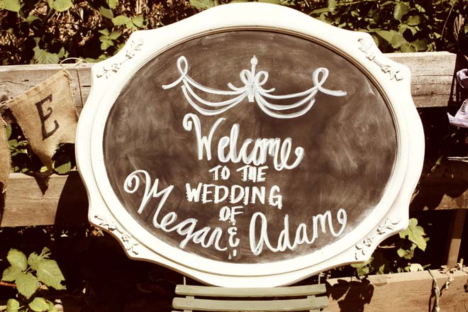 Rustic Sign - Welcome to the Wedding of Megan and Adam