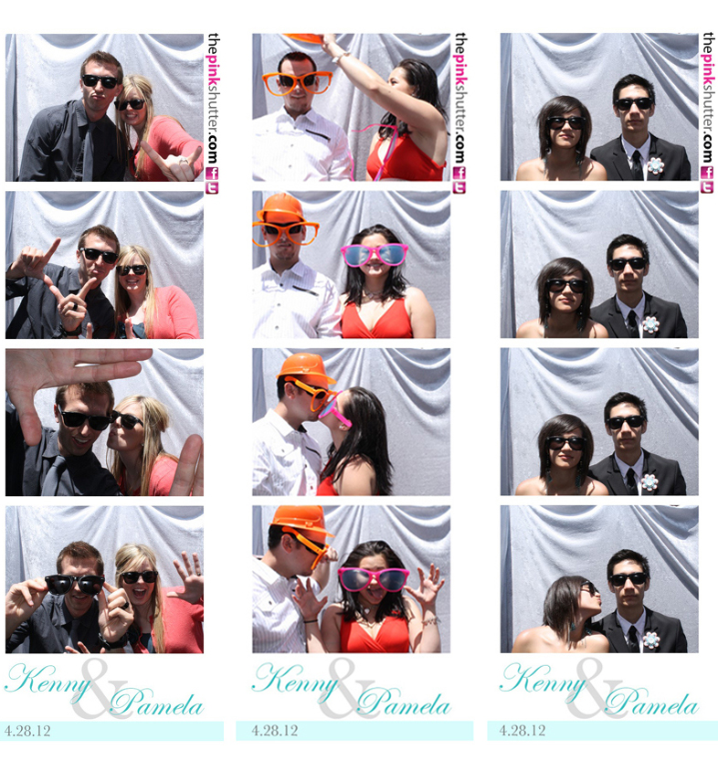 Outdoor Wedding Pink Shutter Photo Booths Photo Booth