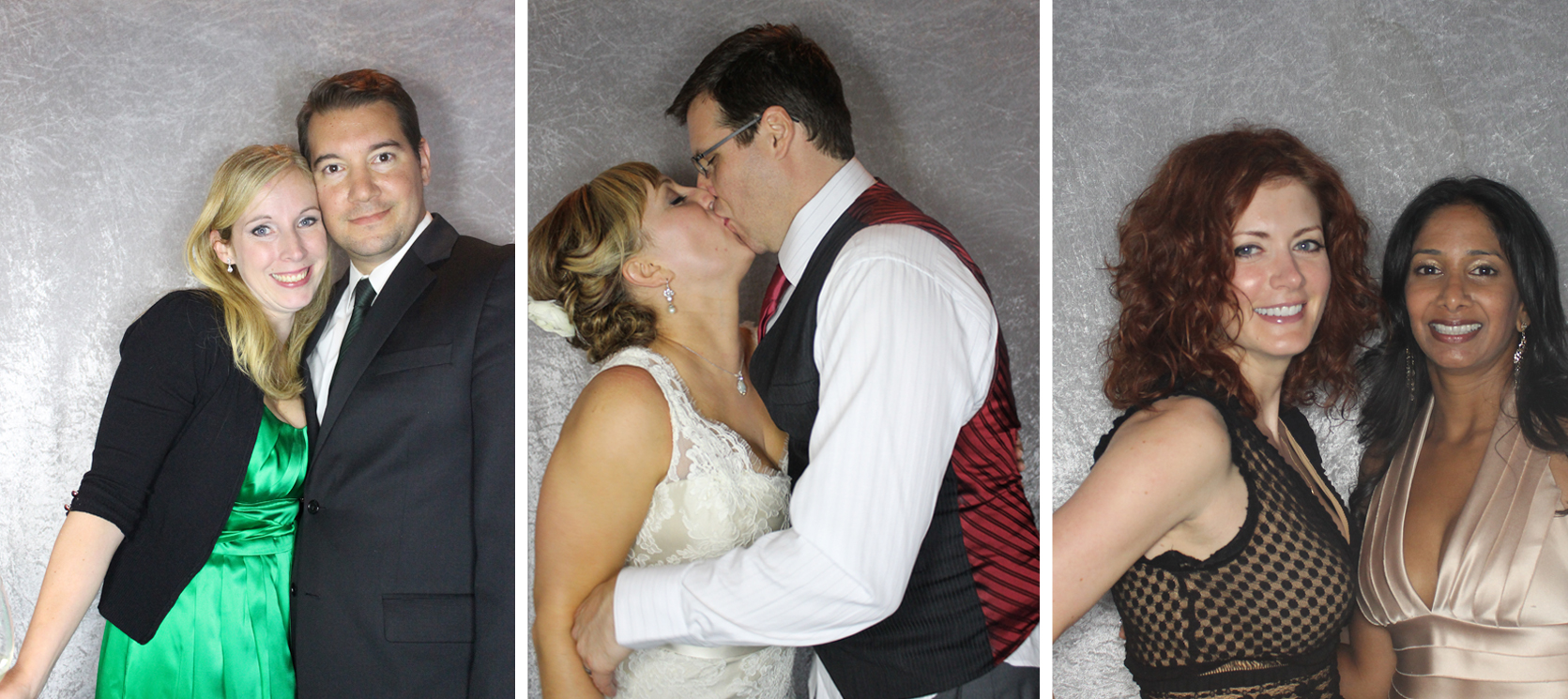 Images of the Bride and Groom in their Photo Booth