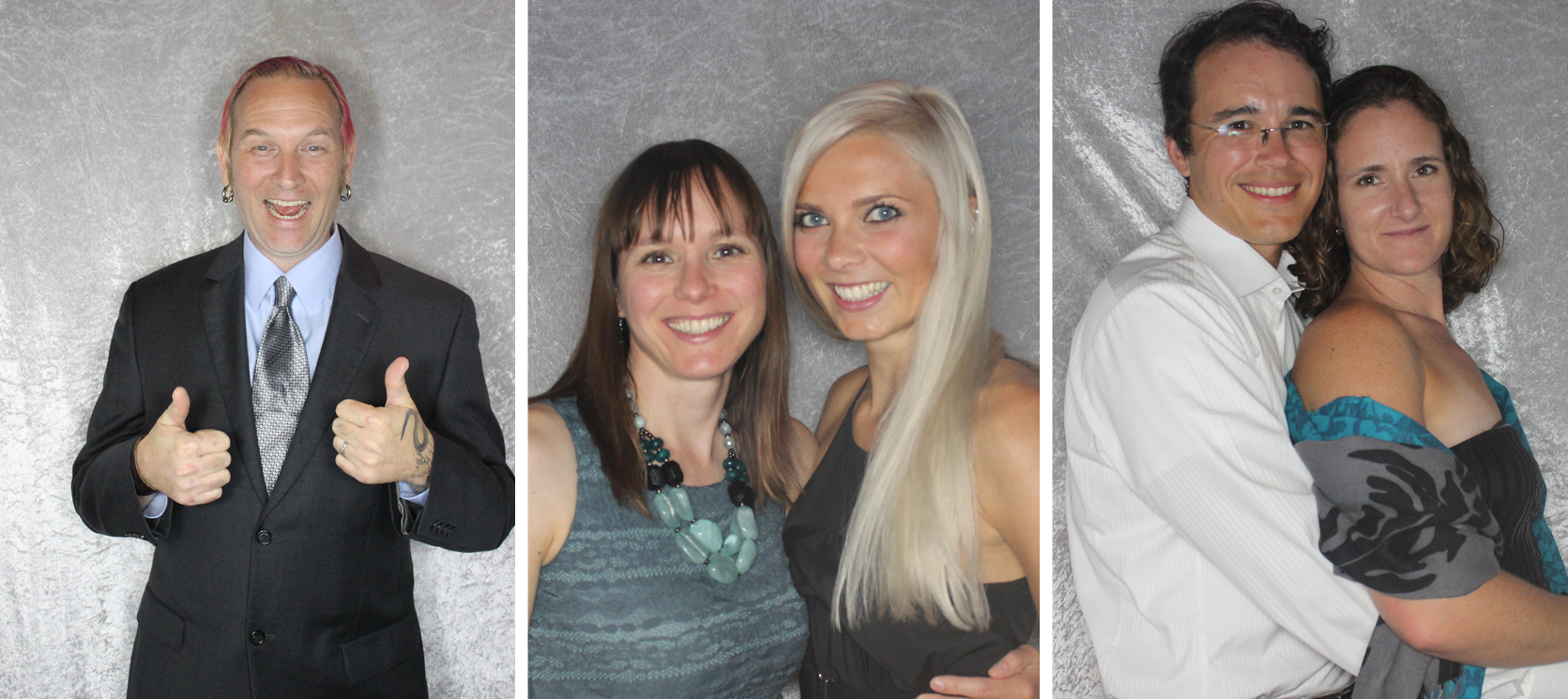 Images of Wedding Guests in the Photo Booth
