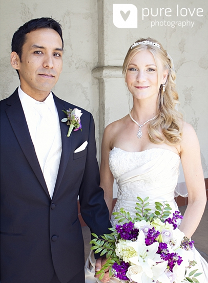 Photo of Christina and Ron with Bouquet