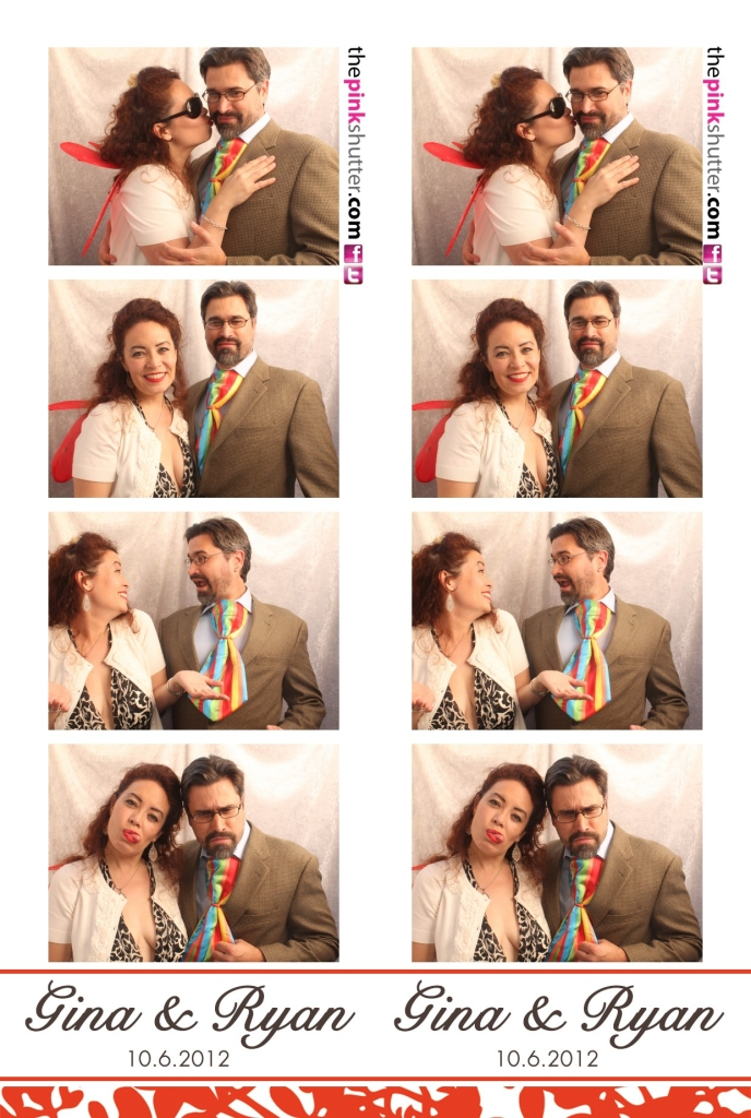 Photo Strip Shows Guests with Party Props