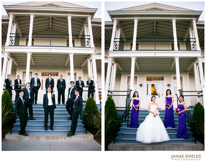 The Bridal Party Poses at the Cavallo Lodge