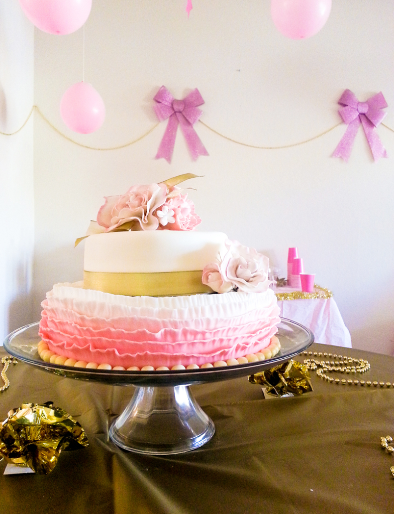 Gold and Pink Themed Table Setting