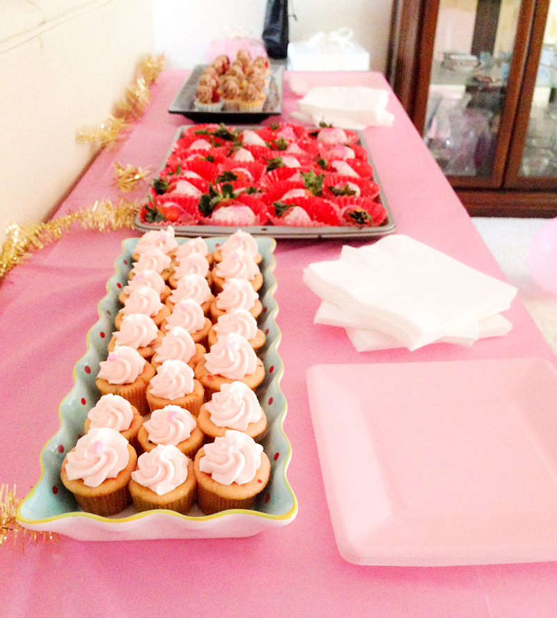 Trays with Pink Desserts