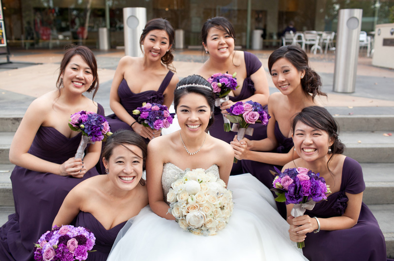 Snapshot of Sherry and her Bridesmaids
