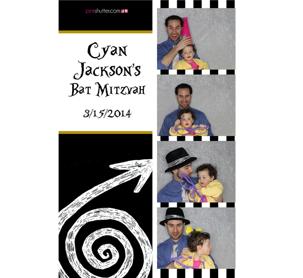 Photo Booth Image from Cyan Bat Mitzvah | 03.15.2014
