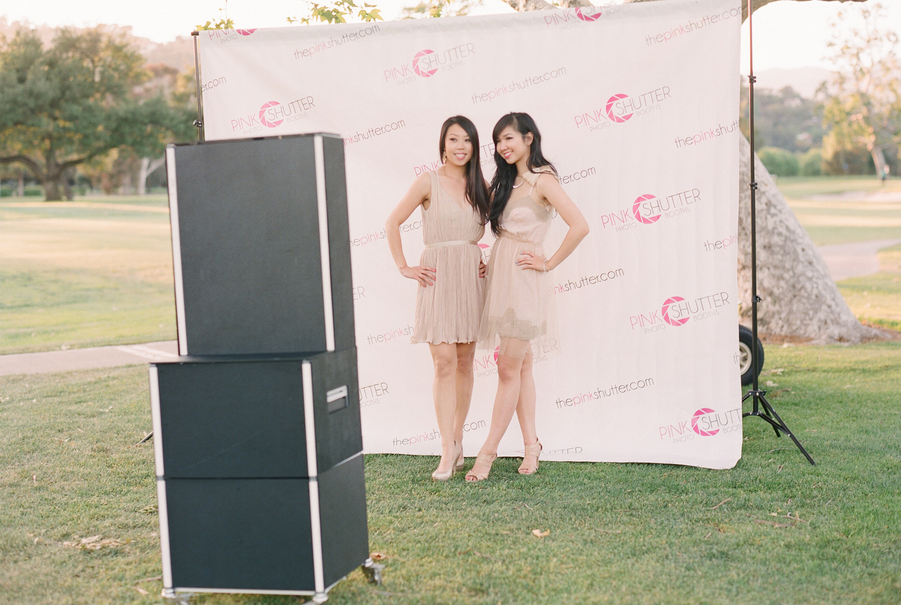 Use our Step & Repeat Backdrop and Open Booth Kiosk
