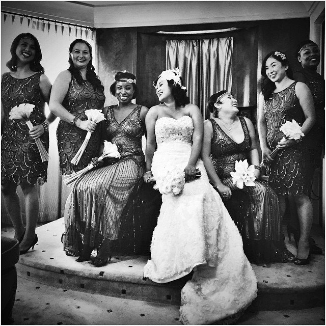 Videographer Captures Bride and Bridesmaids in Black and White
