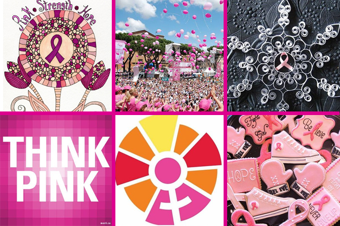 Image Montage from Think Pink Pinterest Board