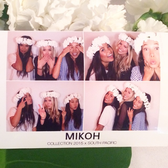 Carolee McKay Poses with Friends at the Mikoh Swimwear Launch