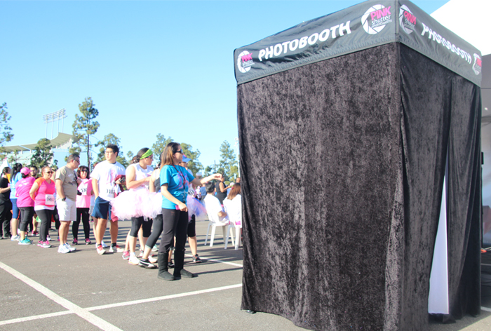 Line for the Photo Booth at Race for the Cure