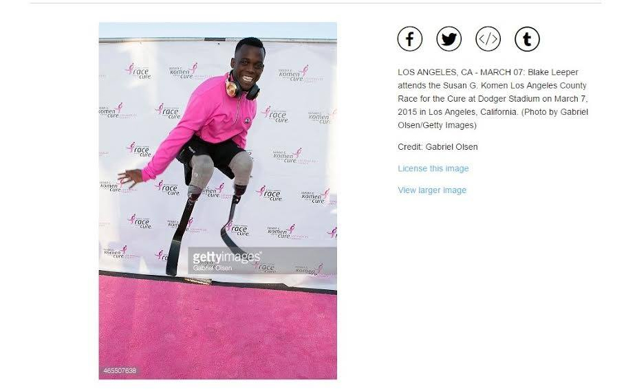 Pink Carpet Photo of Blake Leeper Featured on Getty Images