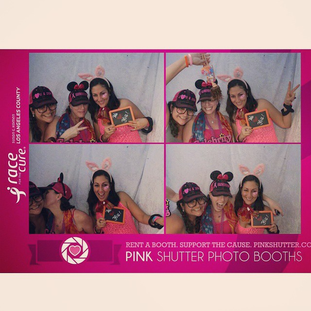 4x6 Photo Booth Prints Featuring Race for the Cure Logo
