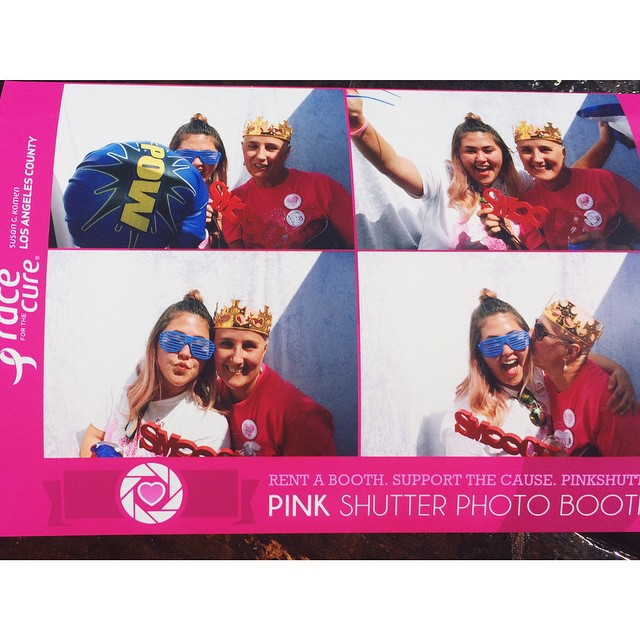Personalized Pink Photo Booth Print with Props
