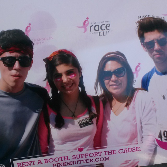 Friends Pose on the Pink Carpet for Photo Print