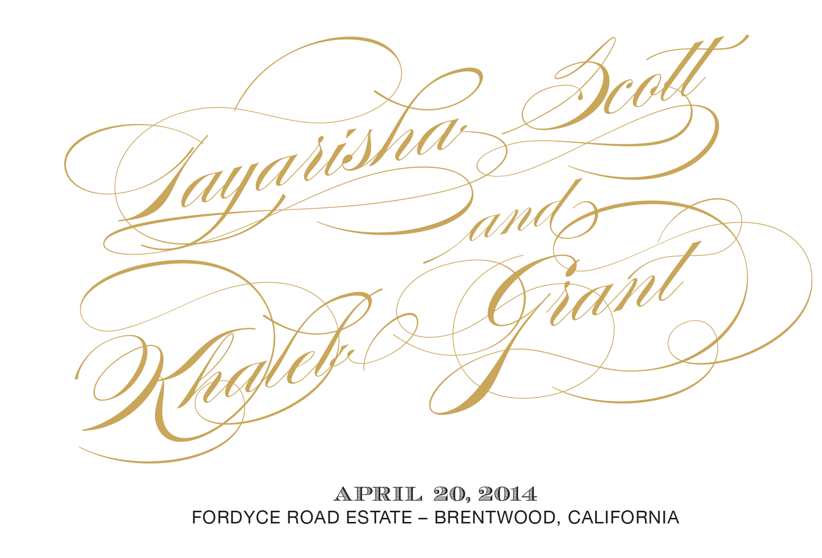Personal Notes Add to the Gold Embellishments on the Program