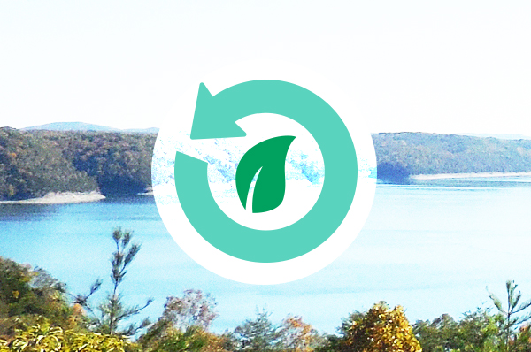 Eco-Friendly Logo with Landscape