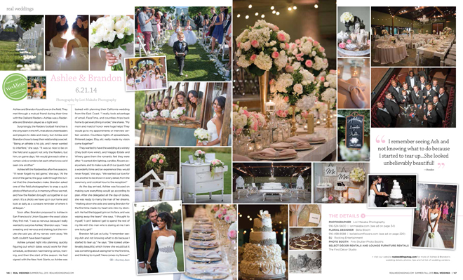 Photos of Ashlee and Brandon's Wedding in Real Weddings Magazine