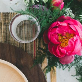 Rustic Table Settings for a Dinner Party