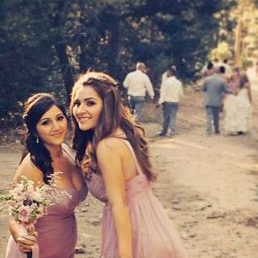 Bridesmaids Dress in Lavendar and Cowboy Boots for a Rustic Wedding