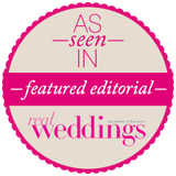 Featured Editorial As Seen In Real Weddings