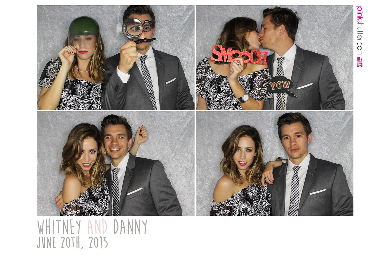 Photo Booth Wedding Print Whitney and Daniel