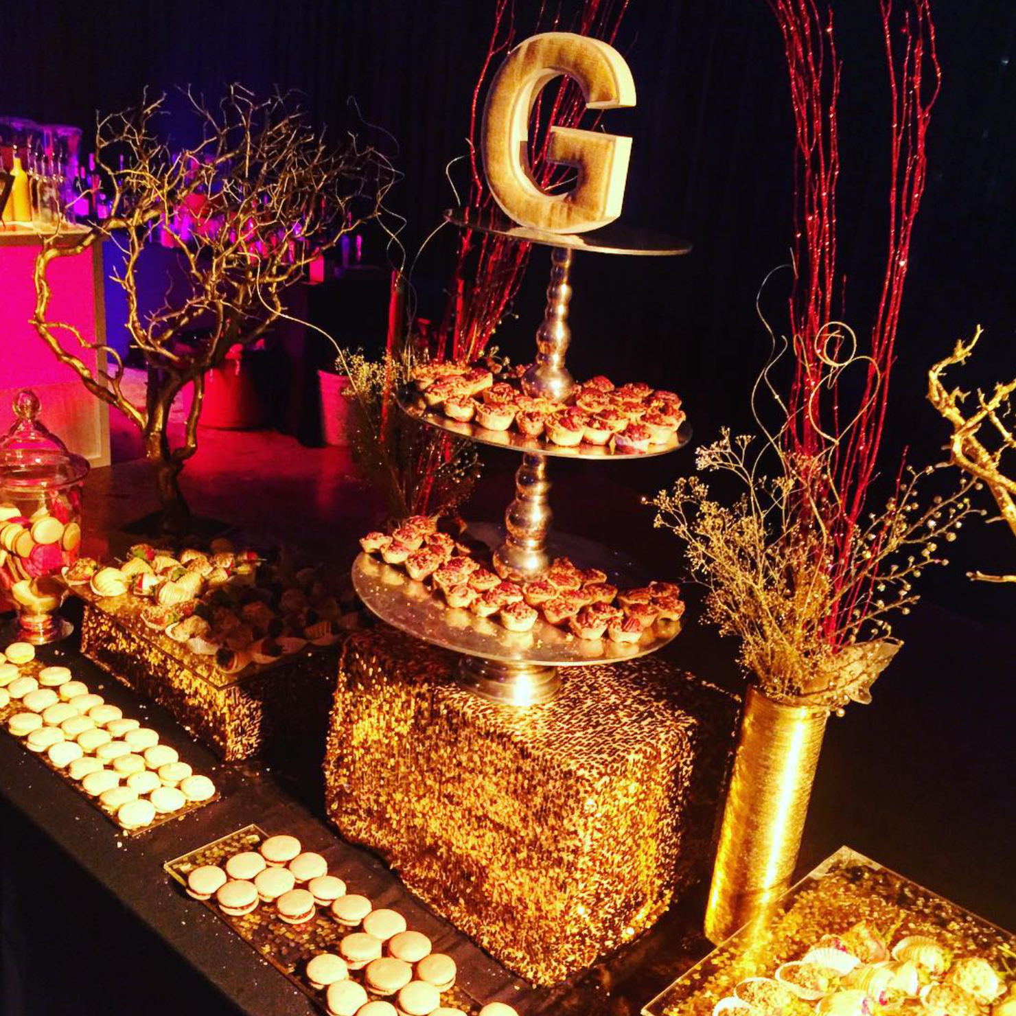 All Gold Desserts Topped with a Gensler G