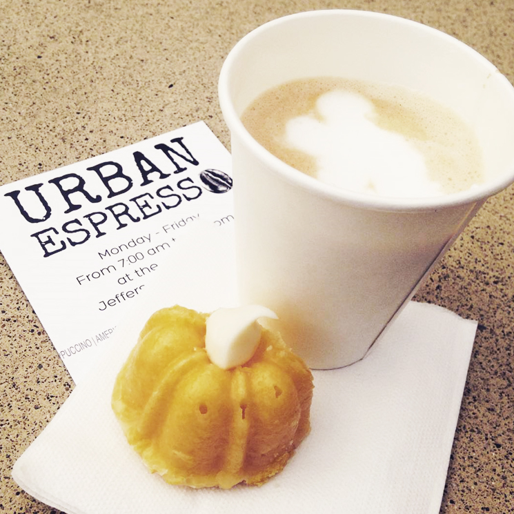 Drink and Dessert from Urban Espresso