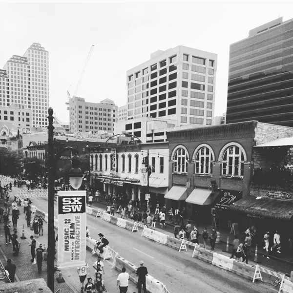 Austin, TX Streets Packed with Festival Goers