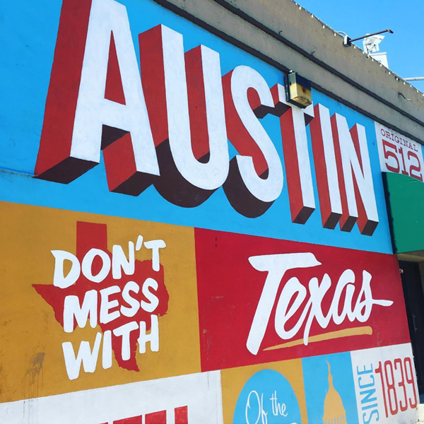 Texas Quotes Shown in Mural