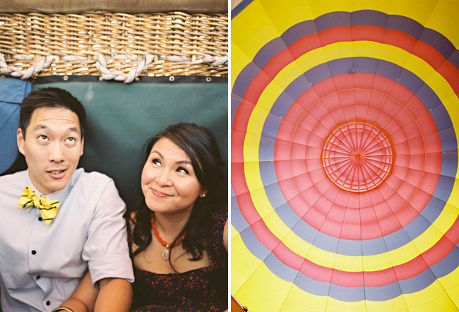 Ngoc and Albert Fly in a Hot Air Balloon to Celebrate Anniversary