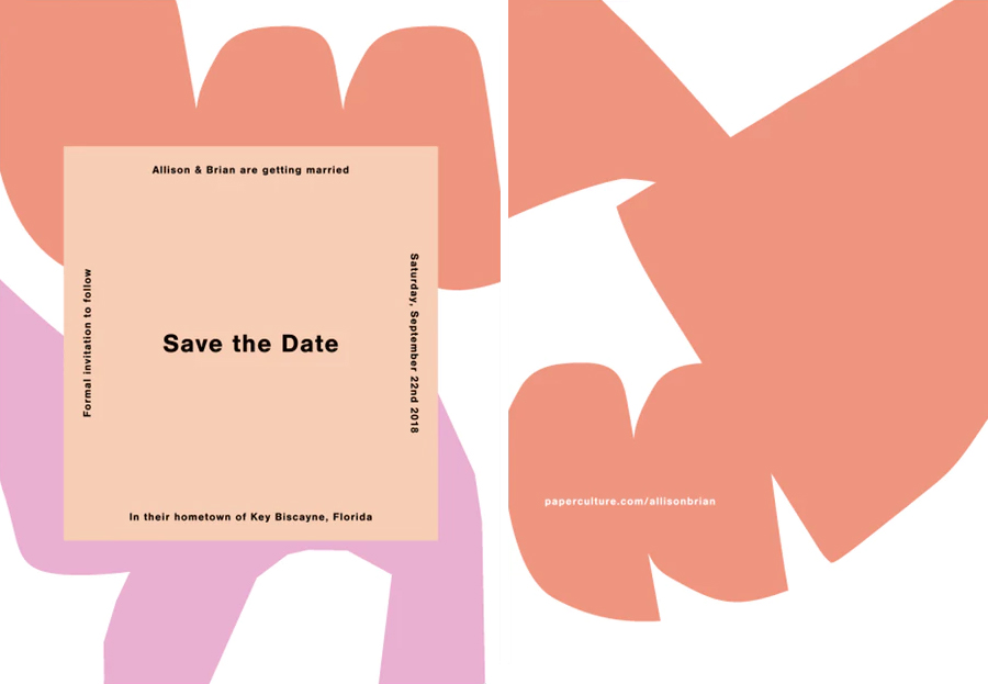 Abstract Wedding Save the Date