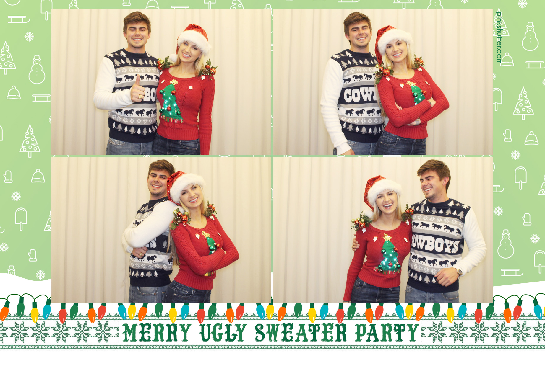 Photo Booth Print with Ugly Sweater Design