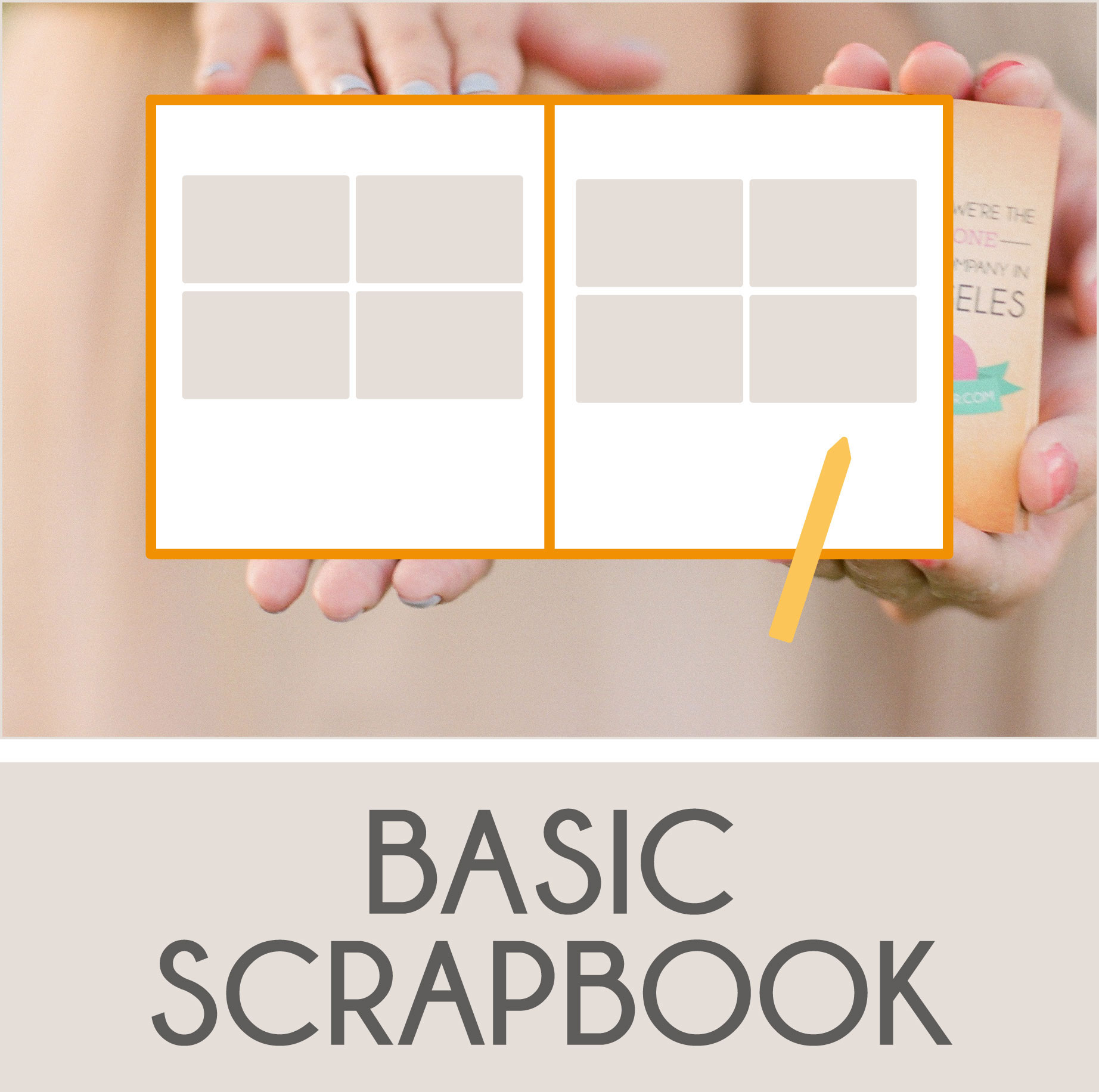 Blank Scrapbook Pages to Fill with Photo Prints